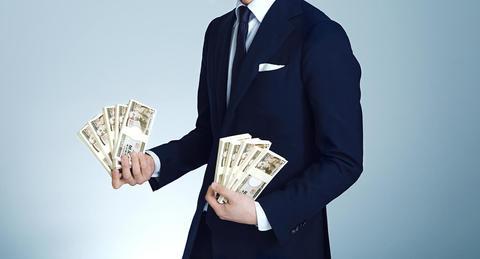 """成功者やお金持ち達から学んだ、<br>お金を引き寄せる""""成り上がり思考術"""""""