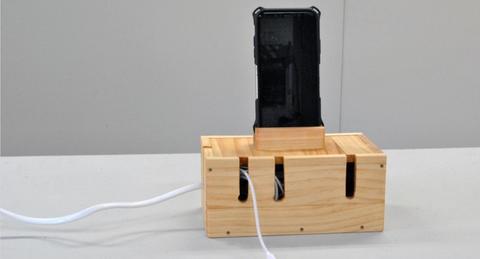 【おうち時間の過ごし方】初心者でもできるDIY「テレワークアイテム編(3)」-- スマホスタンド付きケーブルボックス